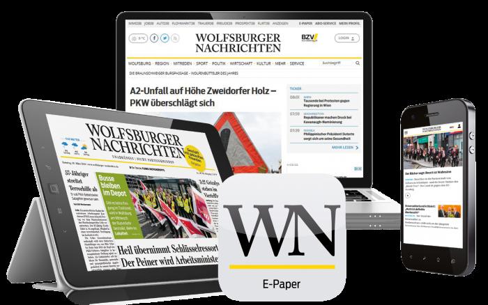 Das Digital-Paket der Wolfsburger Nachrichten.